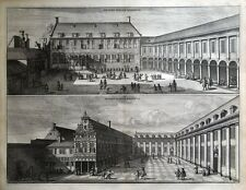 AMSTERDAM, KALVERSTRAAT, BURGERWEESHUIS ORPHANAGE Commelin antique print 1693