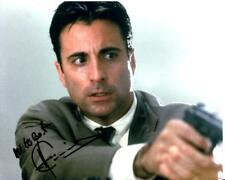 P183 ANDY GARCIA signed  8x10 still '00s great intense close up aiming a gun COA