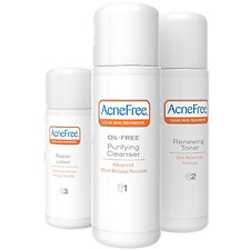 Acne Free 3 Step 24 Hour Acne Treatment Kit - Clearing System w Oil Free Acne &