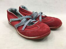 LL Bean Strappy Shoes Sneakers Womens 6.5 Comfort Walking Red Blue Mary Janes
