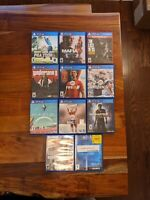 PS4 Game Lot Battlefield 1, Wolfenstein 2, Last of Us, No Man's Sky, Uncharted 4