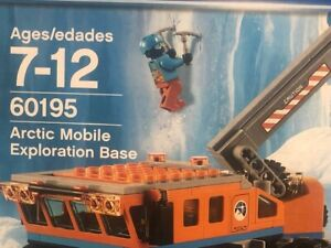 NEW! Lego 60195 City Arctic Mobile Exploration Base  Snowmobile wooly mammoth