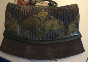 Antique Sino-Tibetan Copper Brass Iron Fire Starter Chuckmuck Tinder Pouch