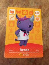 Animal Crossing Happy Home Amiibo Card RENEE #26