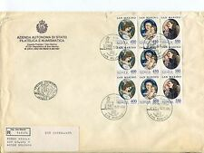 1984 FDC San Marino Natale Madonna S.Girolamo 1489 RACCOMANDATA First Day Cover