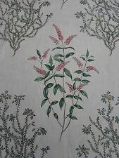 Sanderson Curtain Fabric~ 'Peveril' Pink/Cornflower 5.8 METRES ~ 100% Linen