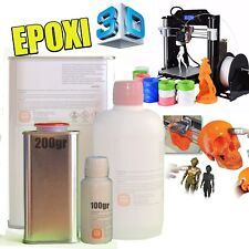 Resina Epoxi para piezas impresión 3D y figuras moldeadas - KIT de 300gr