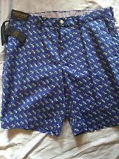 POLO GOLF RALPH LAUREN Links Fit Blue TIGER Print SHORTS sz 34 NWT Ret. $89