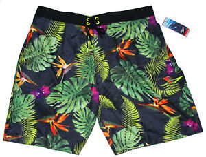 Speedo Recreation Paradise Floral E-Board Shorts Swim Trunks Size XL NWT