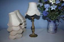 SMALL IVORY DAMASK LINEN FABRIC LAMPSHADE  (SEVERAL AVAILABLE)