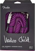 Genuine Fender 30' Hendrix Voodoo Child Coiled Right-Angle Guitar Cable, PURPLE