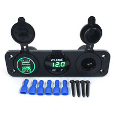 Car Charger Dual USB Port Splitter 12V-24V Socket Power Cigarette Lighter Outlet