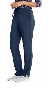 "Barco Wellness #506 Elastic Drawcord Fashion Scrub Pant  in ""Indigo"" Size 2XL"