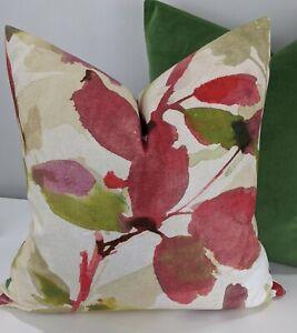 "John Lewis ALEXA (Azzuro)Fabric Cushion Cover 16""x16"" Pink Watercolour"