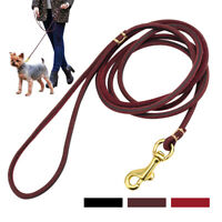 Genuine Leather Dog Lead for Large Dogs Aggressive Long Training Walking Leads