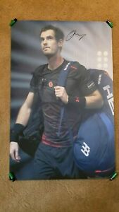 HUGE 2ft x 3ft  Tennis champion ANDY MURRAY signed poster ORIGINAL AUTOGRAPH!