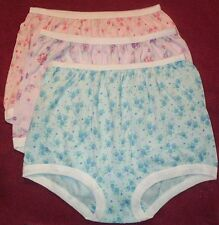 3 Pair 100% COTTON  BAND LEG PANTY Size 8 in Assorted Prints USA Made