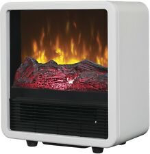 Vent-Free Infrared Electric Fireplace Personal Space Heater Cube 4,600-BTU White