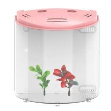 5L Mini Aquarium Fish Tank Portable 180 Degree Open Electronic USB LED Office