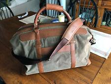 Allen Edmonds Canvas/Leather Duffel Bag Excellent Condition!