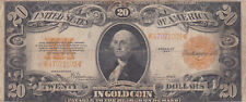 20 DOLLARS IN GOLD VG BANKNOTE FROM USA 1922  RARE