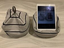 Grey / Black Stripes IPad tablet cushion Beanbag stand holder for tablets kindle