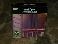 HALLOWEEN LIGHTED PURPLE ROPE PATIO LIGHTS PORCH LIGHT SET OUTDOOR 15' YARD PROP