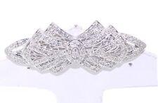 14K White Gold Diamond Anique Brooch : Very Elegant jewelry