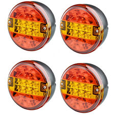 4X 12V/24V volt universal led rear round hamburger queue lampe lumière remorque