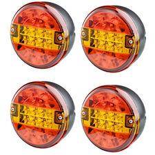 4X 12V/24V voltios Universal LED Luz Trasera Lámpara de cola redonda Hamburguesa Remolque