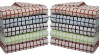 10 Pk Small check Kitchen Terry Tea Towels Cleaning Dish Cloths 100% Cotton !!!
