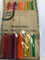 Crochet hooks set of 5 plastic 5mm 6mm 7mm 8mm 9mm New