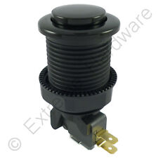 Suzo Happ Competition 28mm Round Arcade Button & Microswitch (Black) - MAME