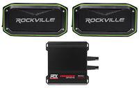 MTX MUD100.4 400 Watt RMS 4-Channel Amp for Polaris RZR/ATV/UTV/Cart+Speaker