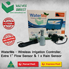 "WaterMe - Wireless Irrigation Controller + Extra 1""Flow Sensor + 1 x Rain Sensor"