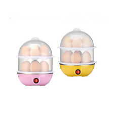 EFLE Home 220V Kitchen 14 Eggs Double Layers Cooker Steamer Cooking Boiler Pink