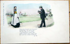1901 Postcard: Man w/Camera Taking Photograph of Woman-Photographer, P. Widmayer