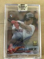 2018 Topps Clearly Authentic Rafael Devers Auto RC Rookie Boston Red Sox