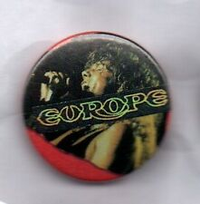 EUROPE BUTTON BADGE Swedish Rock Band - The Final Countdown - Carrie 25MM Pin
