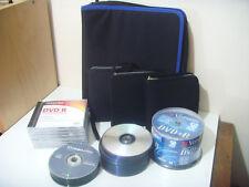 Job Lot Computer DVD R CD R Disks + 300 CD Wallets