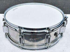 "Vintage 1968 14"" x 5"" Rogers Powertone COB Snare Drum Plays/Sounds/Looks Excel"