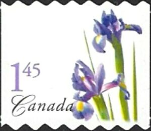 Canada  # 2074 Valley  Coil   PURPLE IRIS   Brand New 2004 Die Cut Pack Issue
