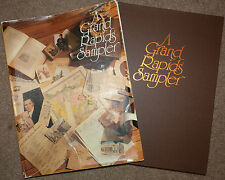 "Grand Rapids Michigan 1992 "" A GRAND RAPIDS SAMPLER "" Book w DJ 231 Pages OLSON"