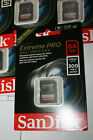 SanDisk Extreme PRO 64 GB up to 300MB/s UHS-II Class 10 U3 SDXC Memory Card