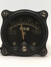 WWII Japanese Navy Aircraft Outside Air Temperature Gauge Carburetor Temp Gauge