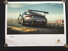 PORSCHE OFFICIAL 991 911 GT2 RS SHOWROOM POSTER REAR 3/4 VIEW TURNING 2018 USA.