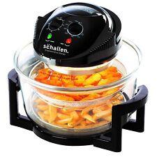 Schallen 2in1 Deluxe Glass Air Fryer Deep Fat Free Frying Healthy No Oil Cooker