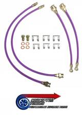 Uprated Stainless Braided Brake 4 Line Hose Kit - For S14a Kouki 200SX SR20DET