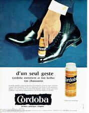 PUBLICITE ADVERTISING  026  1963  Cordoba  cirage chaussures applicateur