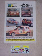"DECALS C.B.COM. 1/43ème FIAT 500 ""ROBERT GARNIER"" Monte Carlo 1997"